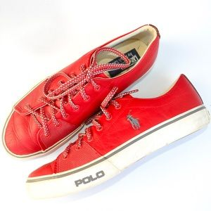 Red Polo Sneakers Leather 9